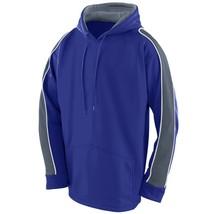Augusta 5524 Youth Zest Hoody - Purple/Graphite/White - $26.11