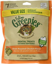 FELINE GREENIES Natural Dental Care Cat Treats 4.6-5.5 oz - $8.99+
