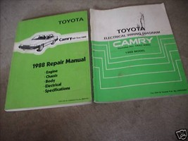 1988 Toyota Camry ALL-TRAC Service Repair Shop Manual Set 88 W Wiring Book - $98.99