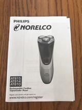 Philips NORELCO AT815/AT814/AT810 Instructions Only Ships N 24h - $7.90