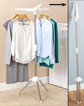 Space Saving Folding Drying Rack Hang and Dry Laundry Clothes Compact Si... - $22.27
