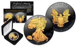 2018 BLACK RUTHENIUM 1 Oz 999 Silver American Eagle Coin 24K Gold Gilded... - $69.25