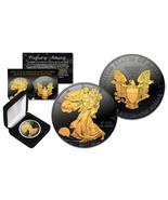 2018 BLACK RUTHENIUM 1 Oz 999 Silver American Eagle Coin 24K Gold Gilded... - $92.73 CAD