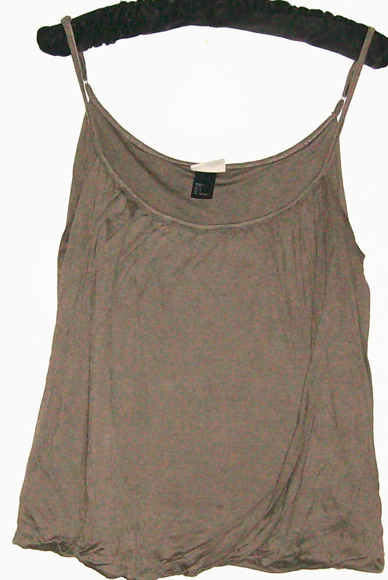WOMEN'S BROWN FITTED HEM TANK SIZE S H&M - $9.00