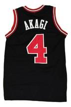 Akagi #4 Shohoku Slam Dunk New Men Basketball Jersey Black Any Size image 2