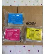 Lot Of 3 NEW Ink Printer Cartridges Yellow Cyan Magenta  - $23.38
