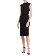 NWT RALPH LAUREN NAVY  BLACK CAREER SHEATH MOCKNECK DRESS SIZE 16 $139 - $48.99