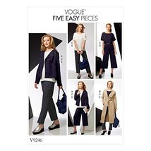Vogue Patterns V9246 Misses' Drop-Shoulder Jackets, Belt, Top with Yokes... - $13.25
