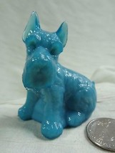 Charlie Scottie Dog Scottish Terrier Aqua Magic Glass  2/7/13 - $17.75