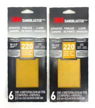 (Lot Of 2) 3M SandBlaster 9 in. L x 3-2/3 in. W 220 Grit Fine Ceramic Sa... - $12.38