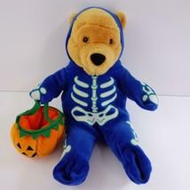 Disney Store Winnie the Pooh Halloween Skeleton 12 Inch Pooh - $24.09