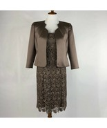 Women's Tahari Arthur S Levine Lux Metallic Dress Set sz 6 - $86.00
