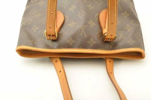 LOUIS VUITTON Monogram Bucket PM Shoulder Bag M42238 LV Auth cr194 **No Sticky image 5