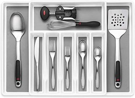 Expandable Cutlery Drawer Organizer, Flatware Drawer Tray for Silverware, - $28.12