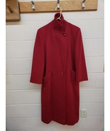 VINTAGE FORSTMANN Womens 100% Wool DBL Breasted Coat Jacket Size L/XL RED - $31.68
