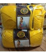 Lion Brand Yarn Hometown USA 2 Skeins Pittsburgh Yellow  #6Super Bulky Soft - $15.27