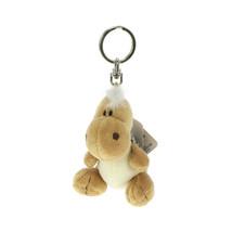 NICI Dinosaur Grey Stuffed Toy Animal Bean Bag Key Ring Key Chain 4 inches 10 cm - $14.99