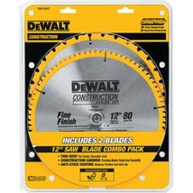 DEWALT 12-Inch Miter Saw Blade, Crosscutting, Tungsten Carbide, 80-Tooth... - $46.51