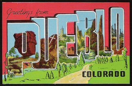 Pueblo Colorado Postcard Scenic Large Letter Greetings CO PC - $14.99