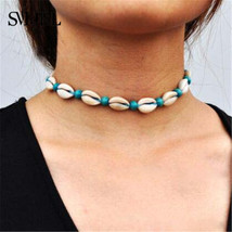 SMJEL Natural Shells Choker Necklaces For Women Hawaiian Ethnic Casual Handmade  - $11.88