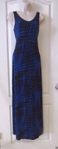 Apt. 9® Blue Black   Print Sleeveless  Maxi Dress Women's Sz XS NWT MSRP... - $29.12