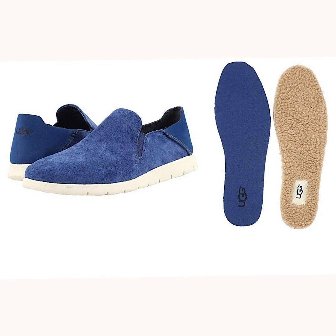 NEW UGG Men's Knox Suede Slip On Sneaker, Sizes 9, 11  Blue, MSRP $100