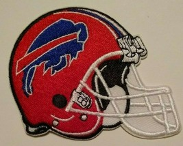 """Buffalo Bills Embroidered PATCH~3 1/8"""" X 3""""~Helmet~Iron Sew On~NFL~Ships FREE - $4.45"""