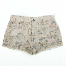 FOREVER 21 Jean Shorts Button Fly Floral size 29 Womens 100% Cotton - $17.10