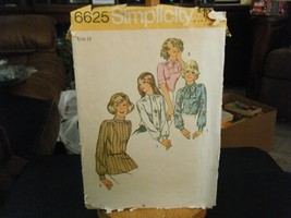 Simplicity 6625 Misses Blouse & Scarf Pattern - Size 14 Bust 36 - $7.34