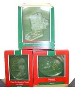 Three Hallmark Acrylic 1989 Christmas Ornaments Our Home GodChild Grandd... - ₨648.32 INR