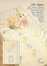 Z505 Crochet PATTERN ONLY ABC Baby Afghan Blanket Pattern - $7.50