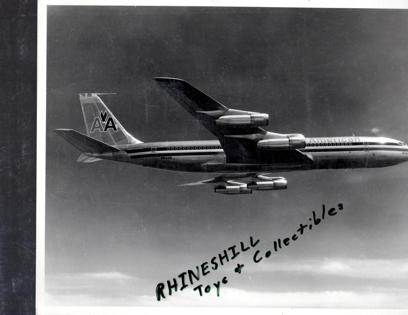 Primary image for American Airlines Boeing  707 In Flight Photograph
