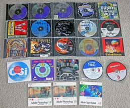 Lot of 23 Vintage Macintosh Apple Mac PowerMac Software CD-ROMs Games, P... - $29.95