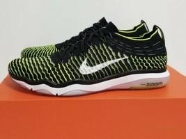 Nike Air Zoom Fearless Flyknit Black Volt Swoosh 850426 002 Womens Size 7 - $49.00