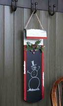 """Melrose 23""""  Black Red Chalkboard Sled Berry Pine Cone Christmas Decor - $21.77"""
