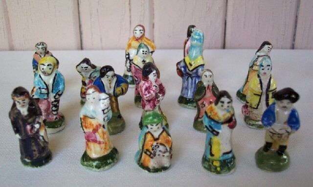 Medieval Character Miniatures Collectibles Figurines 17 PC