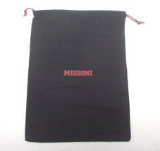 "MISSONI dust cover shoes bag black cotton 15"" x 11"" new - $10.00"