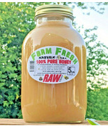 RAW HONEY CLOVER 5 LBS / 2268g 100% PURE RAW UNFILTERED CLOVER HONEY In Glass - $44.50