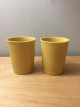 Vintage 70s Tupperware #1251 Yellow 6oz. Tumblers Set of 2