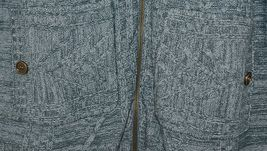 Simply Noelle Brand JCKT222Z Womens Misty Blue Zippered Sweater Jacket Size XXL image 4