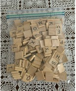 200 Assorted Wooden Scrabble Letter Tiles  2 Complete Sets 4 Dog Rescue ... - £6.11 GBP