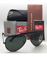 Neu Ray-Ban Sonnenbrille RB 3422-Q 9040 Schwarzes Leder Aviator mit / G-... - $219.95