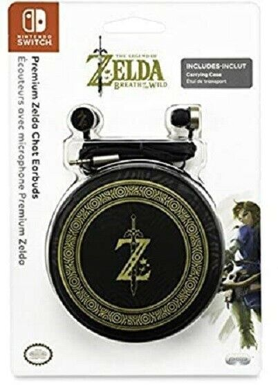 Primary image for Premium Zelda Chat Earbuds for Nintendo Switch by PDP - Includes Carrying Case