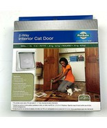 PET SAFE  2-Way Open Locking Interior Pet Door Clear Flap Small 1-15 lb ... - $11.20