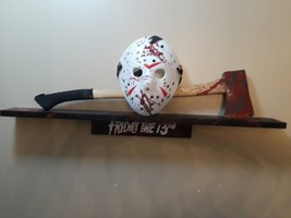 friday the 13th Jason lives voorhees wall display axe art prop no lives ... - $176.37