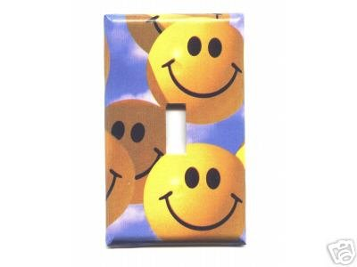 Happy Smiley Faces Single Light Switch Plate Cover *