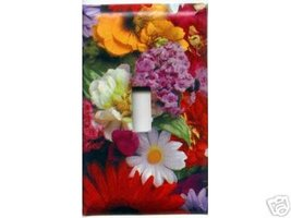 Beautiful Flowers Single Light Switch Plate Cover - $6.75
