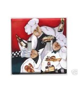 Fat Chefs Super Size Double Light Switch Plate Cover - $10.75