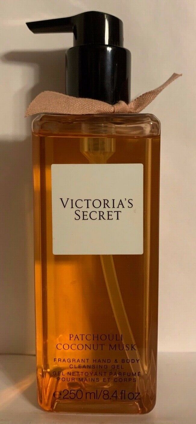 Victoria's Secret PATCHOULI COCONUT MUSK Hand Body Cleansing Gel Body Wash 8.4