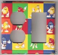 Out/GFI Light Switchplate Handmade-Bright M&M'S® Pap
